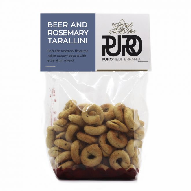 PURO Beer and Rosemary Tarallini savoury biscuits