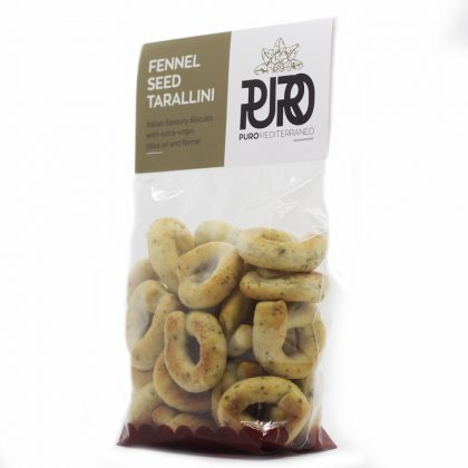 PURO Fennel Seed Tarallini savoury biscuits